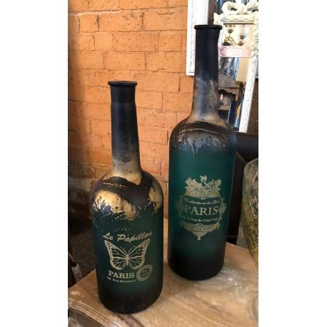 Set of 2 Decorative Glass Vases