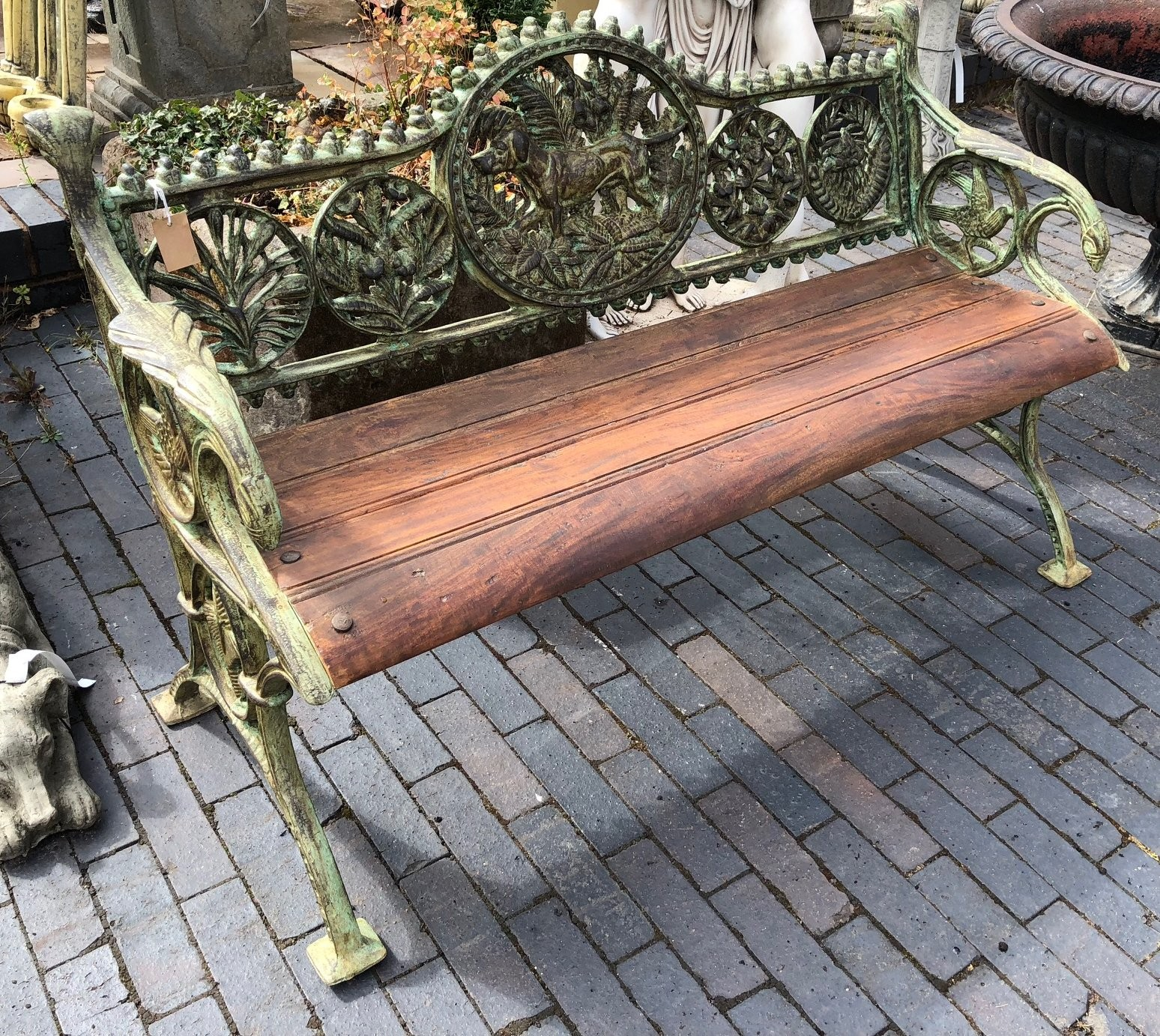 Picture of: Cast Iron Bench With Wooden Seat Blackbrook Interiors
