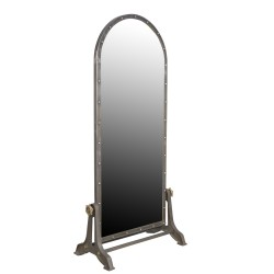 Industrial Iron Mirror