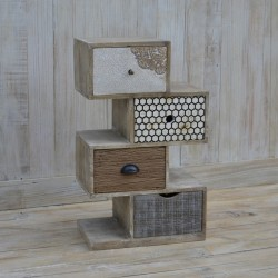 Unusual Wooden Chest of Drawers